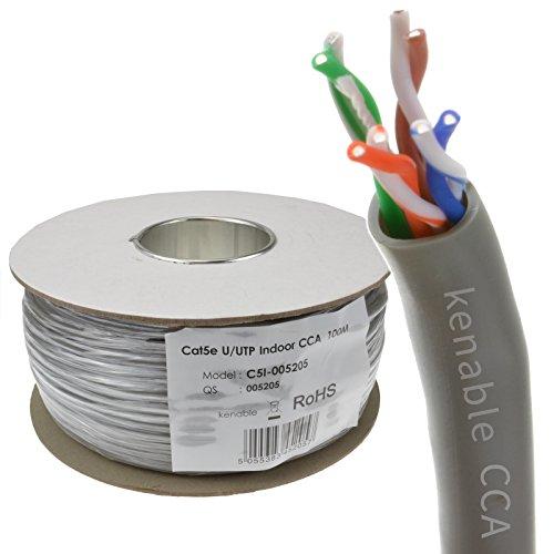 Ethernet UTP CCA Kabel Roll Netzwerk LAN Solid UTP CAT5e CCA Grey 100 m