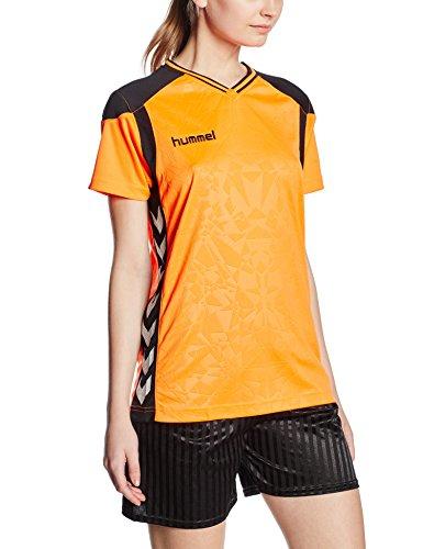 hummel-sirius-womens-short-sleeved-jersey-orange-shocking-orange-black-sizel