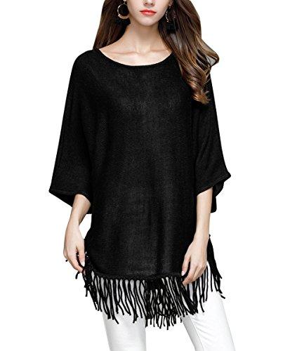 ELLAZHU - Pull - Femme YY17 Noir