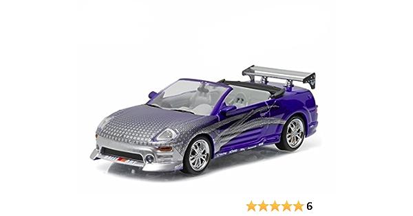 Mitsubishi Eclipse Spyder Tuning Metallic Violett Dekor Fast Furious 2001 Modellauto Fertigmodell Greenlight 1 43 Spielzeug