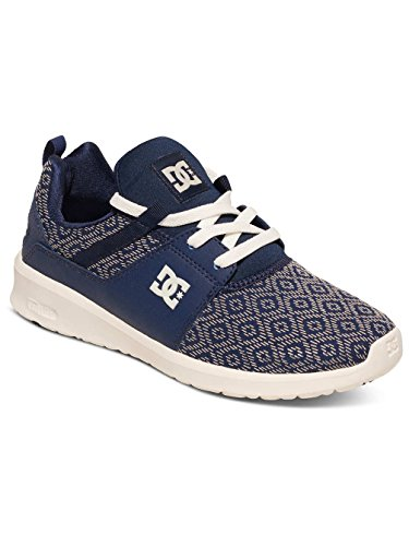 DC Shoes Heathrow Se J, Baskets Basses femme Bleu - Navy