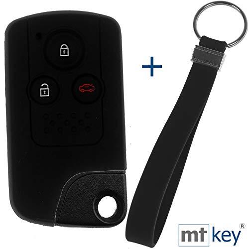 KEYLESS Schlüssel Hülle + Tag Schwarz Kompatibel mit Honda CR-V CR-Z Civic Insight Accord
