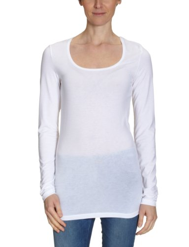 SELECTED Damen Langarmshirt, 16026594 Weiß (White)