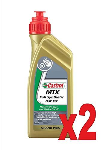 Castrol Full Synthetic 75w-140 Litri 1 Olio Sintetico per Cambio Moto 2T e 4T n. 2 flaco
