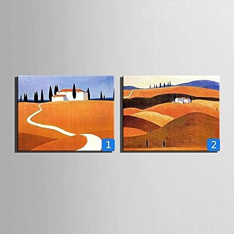 WHH Hillside cottage dipinti a mano olio pittura, cornice decorativa, den corridoio decorazione , 2