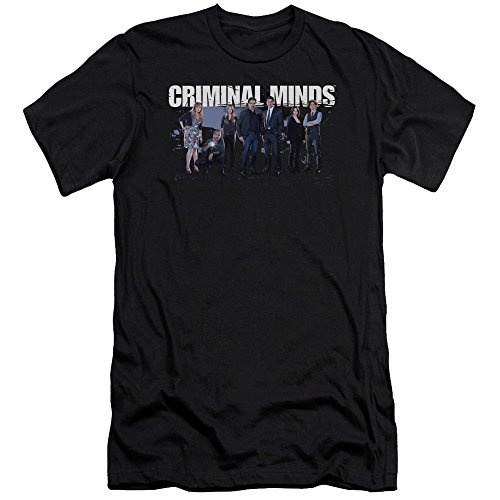 Criminal Minds FBI Drama Series Season 10 Cast Photo Adult Slim T-Shirt Tee