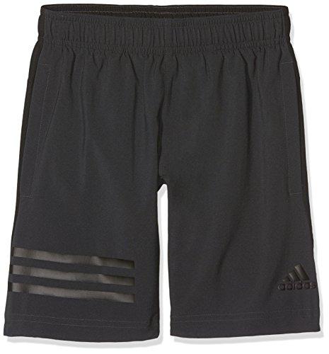 adidas Jungen Training Woven 3-Streifen Shorts, Carbon/Black, 140