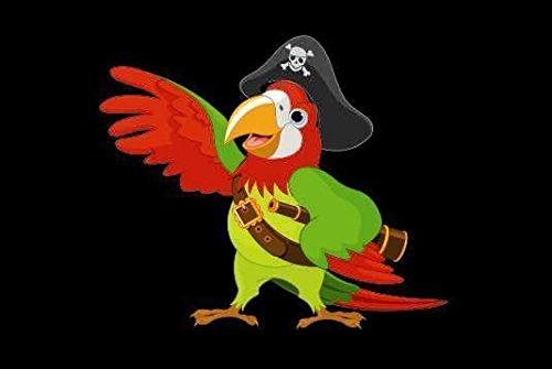 U24 Fahne Flagge Piraten Papagei Bootsflagge Premiumqualität 40 x 60 cm