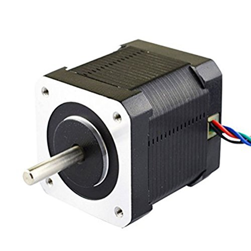 LEORX Nema 17 Stepper Motor Bipolar 2A 59Ncm(84oz.in) 48mm Body 4-lead W/ for 3D Printer/CNC Test