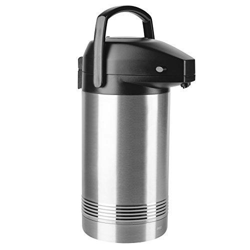 Addis Pump-Isolierkanne, 3 Liter, Edelstahl/Schwarz, President, 517465