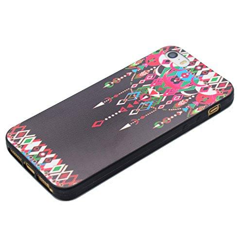 Hülle für iPhone SE 5 5S 5G, Schwarz Silikon Schutzhülle für iPhone SE 5 5S 5G Case TPU Bumper Handyhülle, Cozy Hut ® [Thin Fit] [Schock Absorption] Soft Flex Silikon Schlanke Hülle [Schwarz] Premium  Anhänger