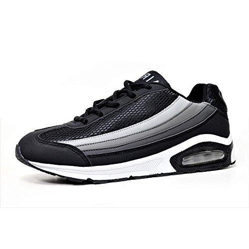 Airtech , Baskets mode pour homme Noir/gris/blanc