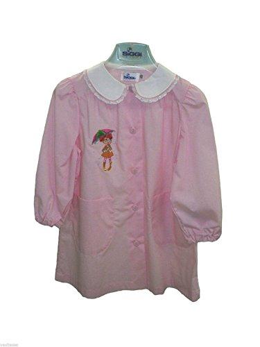 Grembiule bimba scuola siggi bambina asilo rosa unito dalla 45 alla 70