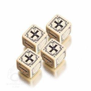 Q-Workshop QWOAFU18 - Brettspiel 'Antique Fudge Dice', beige/schwarz