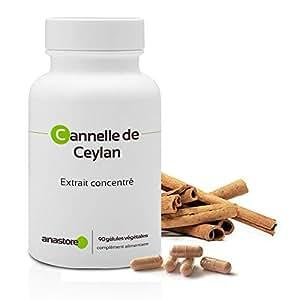 Cannelle de Ceylan* Antioxydant* 250 mg / 90 gélules * Fabriqué en FRANCE