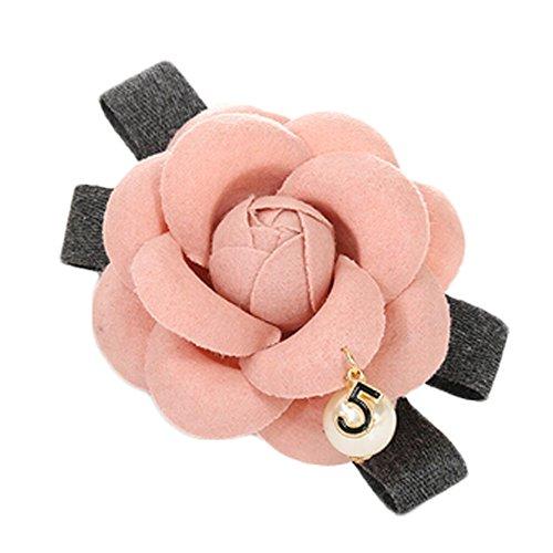 Clips de cheveux roses Camellia Barrettes Ornement cheveux pour Summer Beach fra