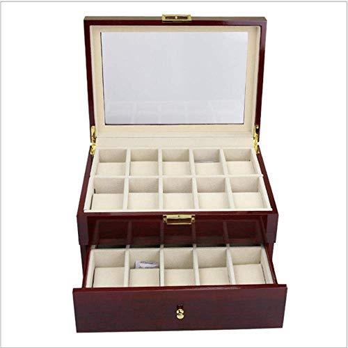 XHHWZB Watch Box Organizer Kissenbezug - 20-Slot Premium-Vitrinen for Männer und Frauen Watch & Jewelry Large Holder Boxen Geschenk (Dekorieren Sie Einen Kissenbezug)