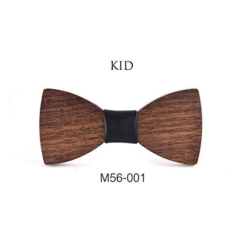 Jungen aus Holz Fliege Baby-Kinder bowties Bogen Cravat Schulkind Studenten Holz Krawatte, M56-001 ()