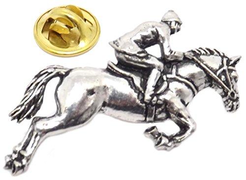 Pferd Jockey Springreiten Vielseitigkeit Jagdbestand Krawatte Anstecknadel Abzeichen Brosche (Abzeichen mit Geschenkbox)