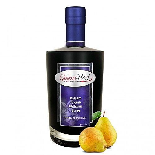 Balsamico Creme Birne 0,35L 3% Säure mit original Crema di Aceto Balsamico di Modena IGP.