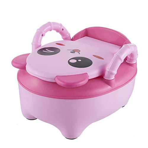 QIANGUANG Toilette WC per bambini Sedile Bambino piccolo Allenatore Vasino Sedile del water (Rosa Nuovo)