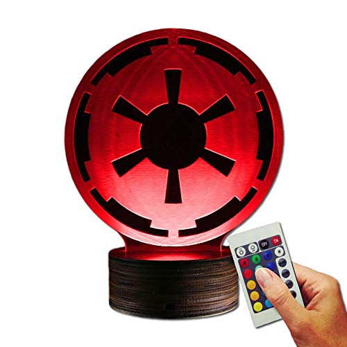Stuff4Players Star Wars Dekolampe Das Imperium Logo (3D-Hologramm Illusion)
