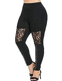 Ansenesna Mujer Pantalones Tallas Grandes Elasticos Invierno Leggings  Casuales Atractivos Agujero del Deporte Moda MáS TamañO 84526c9d39e0