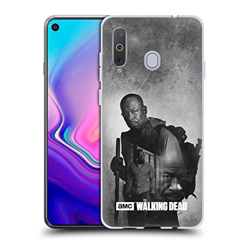 Head Case Designs Offizielle AMC The Walking Dead Morgan Doppelte Aussetzung Soft Gel Huelle kompatibel mit Samsung Galaxy A8s (2018)