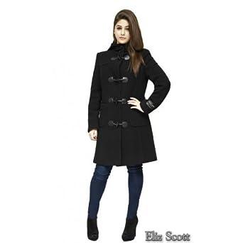 Eliz Scott - Wool &amp Cashmere Womens Winter Duffle Coat: Amazon.co