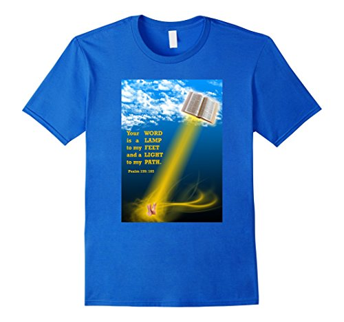 your-word-is-a-lamp-to-my-feet-christian-gift-t-shirt-herren-gre-l-knigsblau
