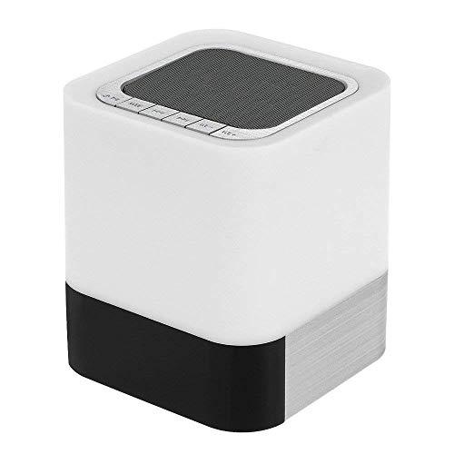 XIAYU Nachtlicht Bluetooth-Lautsprecher, Touch-Sensor LED-Nachtlampe Dimmbare Warme Licht Drahtlose Lautsprecher Mit Wecker, MP3-Musik-Player, Kinder Party-Schlafzimmer.