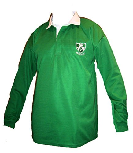 Irland Irish Shamrock Retro Rugby Shirts Erwachsene S M L XL XXL 3X L 4X L 5X L Full Sleeve Exklusive Gr. XXXL, smaragdgrün