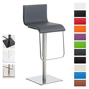 clp barhocker limon mit verstellbarer sitzh he 55 78 cm drehbar hochwertiger kunstleder. Black Bedroom Furniture Sets. Home Design Ideas