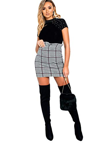 IKRUSH Women's Calla Papiertasche Rock in Check Size 6
