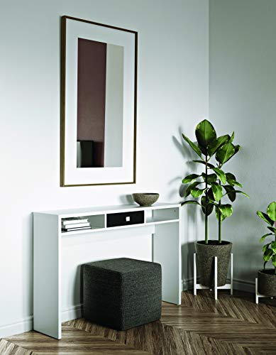 Modern Loft Sally B6 Consolle, nobilitato, Bianco/Nero (Weiß/Schwarz), 79.2 x 120 x 28 cm