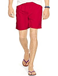 Mens Ralph Lauren 5¾ - inch Solid Hawaiian Swim Shorts - New Collection - Red