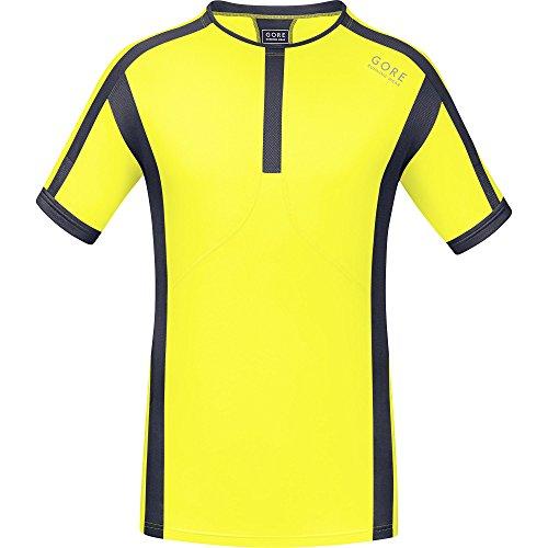 GORE RUNNING WEAR, Maglia Corsa Uomo, Maniche corte, Ultraleggera, GORE Selected Fabrics, Air, Taglia M, Giallo/Grigio, SMAIRS169108