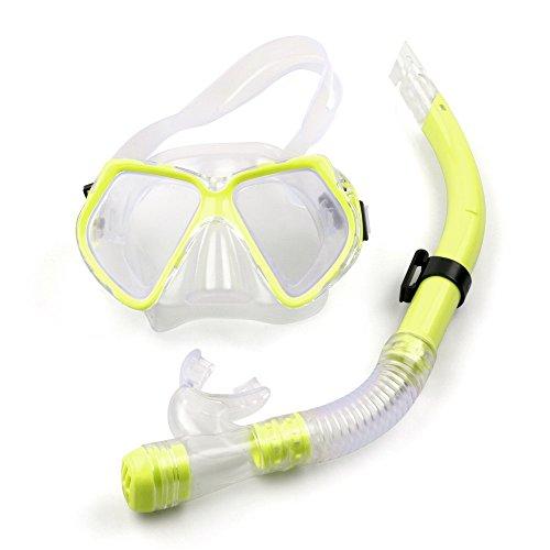 ACALI Tauchmaske und Schnorchel-Maske-Set für Schnorcheln Tauchen Freitauchen Schwimmen-für Erwachsene Frauen Männer Jugend-Schwimmer-Schnorchel&Einzellinsen-Maske/Schutzbrille-No Leaking,No Fogging