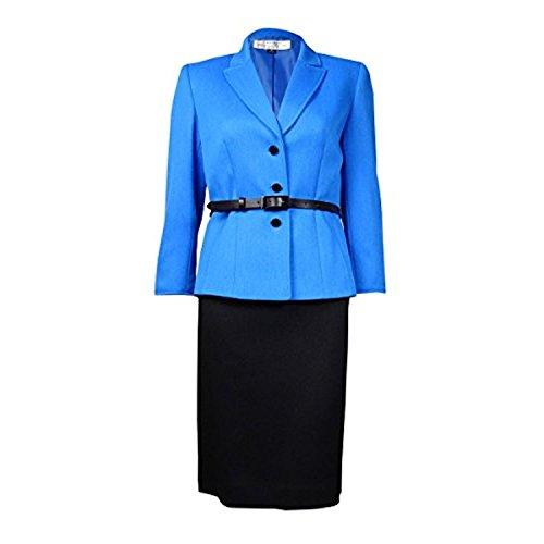ASL Damen Fiona Colorblock 3/4 ?rmeln Rock Anzug Blau 18
