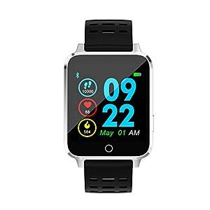 A-Artist Smartwatch Sportuhr Bluetooth Uhr Intelligente Armbanduhr Wasserdicht Fitness Tracker mit Herzfrequenz Schlafmonitor und Kalorienzähler mit Schrittzähler Pulsuhr iOS und Android