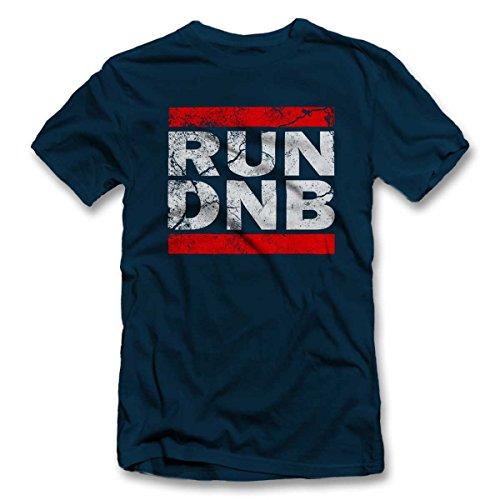 Run Dnb Vintage T-Shirt S-XXL 12 Farben / Colours Navy Blau