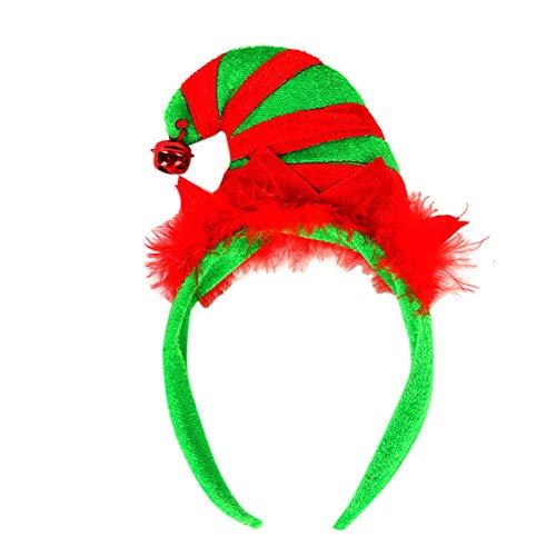 Weihnachten Hairband, Fancy Antlers Elf Jingle Bells Kopf Hoop Kostüm Zubehör Elf