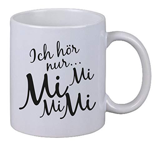 Netspares 131290271 Kaffee Tasse Ich Hör Mi Geschenk Weihnachten X-Mas Fun Gag Büro Chef, Weiß
