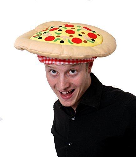 PIZZA-HUT MÜTZE KOPFBEDECKUNG ZUBEHÖR, ITALIENISCHES DESIGN, (Fancy Kostüm Dress Pizza)