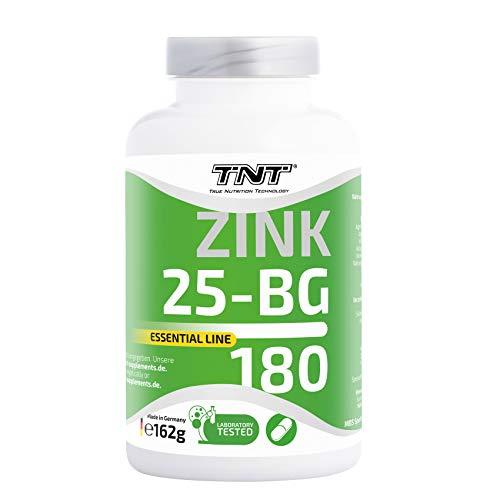Zink Tabletten Hochdosiert für 6 Monate mit 25 mg pro Tagesportion - Zinc 180 Tabletten