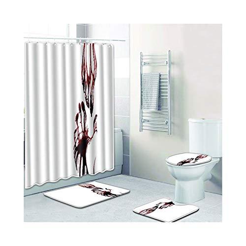 Knbob Badezimmer Teppich Set 7 Teilig Blutige Hände Stil 05 Badezimmerteppich Set 21 Teilig Für Hänge Wc 45X75Cm