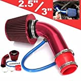 SLB Works Brand New 1pcs Universal Car Cold Air Intake Filter Aluminum Pipe