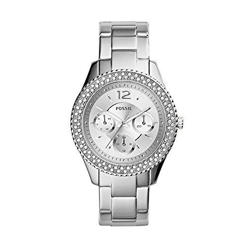 Fossil Damen Analog Quarz Uhr mit Edelstahl Armband ES3588