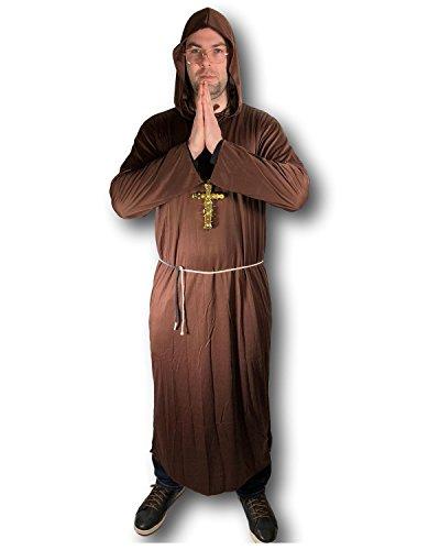 Kostüm Tuck Erwachsene Friar Für - Erwachsene Herren Mönch Kostüm Friar Tuck Priester Verkleidung Kostümparty