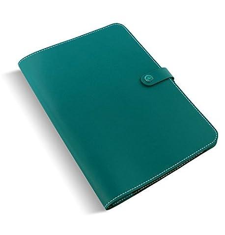 Filofax The Original Folio A4Dark Bleu Aqua Notebook Conférence–Conférencier en Cuir 829948